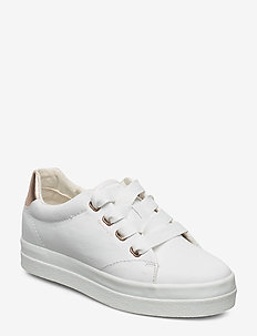 Avona Sneaker - low top sneakers - br.wht./rose gold