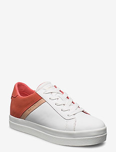 Avona Sneaker - low top sneakers - br.wht./br. coral