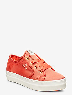 Leisha Low lace shoes - low top sneakers - clementine
