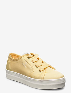 Leisha Low lace shoes - sneakersy niskie - light yellow