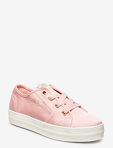 Leisha Low lace shoes - sneakers med lav ankel - seashell pink