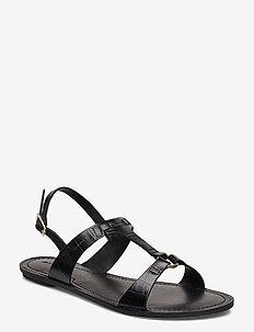 Beechum Sandal - flache sandalen - blk croco optic