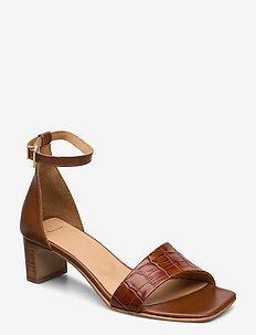 Alabasta Sandal - sandalen met hak - cognac