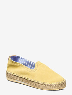 Peachtown Espadrille - flat espadrilles - light yellow