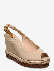 Ivalice Wedge Sandal - espadrilles med hæl - dry sand