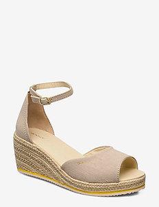 Wedgeville Plateau Sandal - heeled espadrilles - dry sand