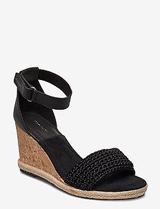 Pelicanbay Wedge Sandal - espadrilles med hæl - black