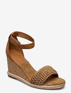 Pelicanbay Wedge Sandal - højhælede espadrillos - fudge caramel