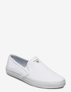 Preptown Slip-on shoes - slip-on sneakers - bright white