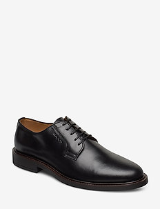 St Akron Low lace shoes - chaussures lacées - black