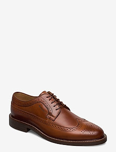 St Akron Low lace shoes - brogues - cognac