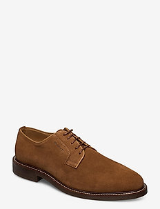 St Akron Low lace shoes - chaussures lacées - cognac