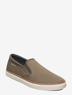 Prepville Slip-on shoes - baskets slip-ons - kalamata green