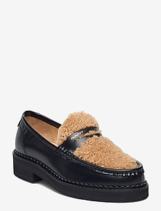 Woodla Low lace shoes - mokasiner - black