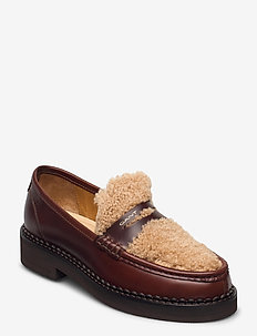 Woodla Low lace shoes - loafers - sienna brown
