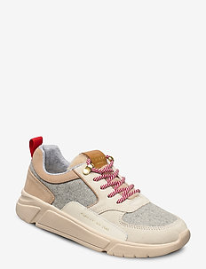 Cocoville Low lace s - lave sneakers - cream/gray