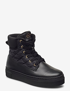 Vanna Mid lace boot - high top sneakers - black