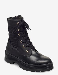 Windpeak Mid lace boot - long boots - black
