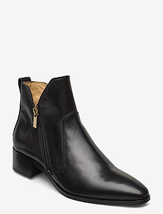 Isla Mid Zip boot - ankle boots with heel - black