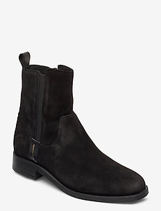 Fayy Mid Zip boot - chelsea boots - black