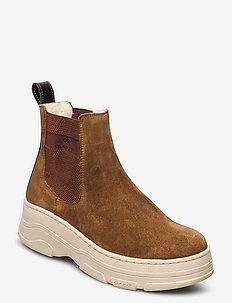 Najor Chelsea - platta ankelboots - tobacco brown