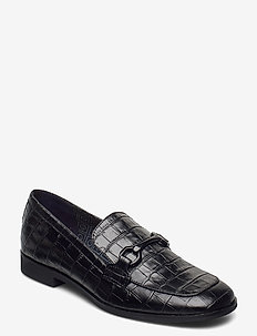 Treesa Moccasin - loafers - blk croco optic