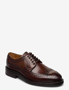 Flairville Low laceshoes - buty sznurowane - cognac