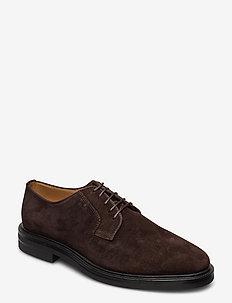 Kyree Low lace shoes - snøresko - dark brown