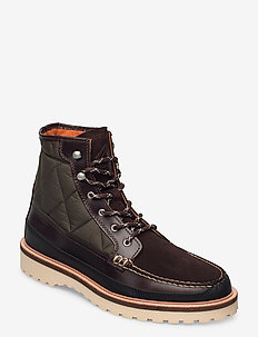 Roden Mid lace boot - laced boots - dark brown
