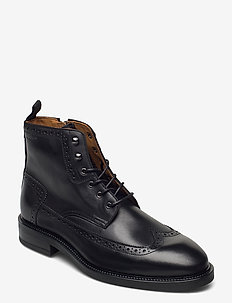 Flairville Mid laceboot - med snøring - black