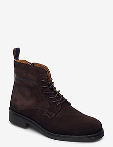 Brookly Mid lace boot - med snøre - dark brown