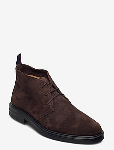 Kyree Mid lace boot - desert boots - dark brown