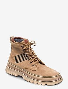 Nebrada Mid lace boot - laced boots - dark beige