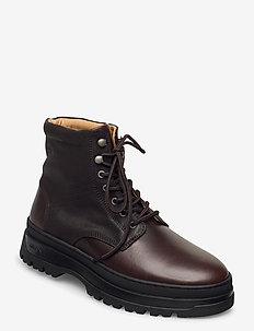 St Grip Mid lace boot - veter schoenen - dark brown