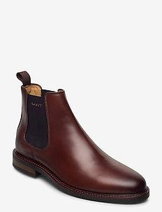 St Akron Chelsea - chelsea boots - cognac