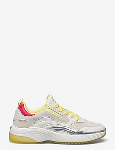 Calinne Sneaker - chunky sneakers - white/yellow