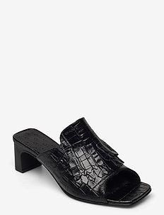 Alabasta Sandal - højhælede sandaler - blk croco optic