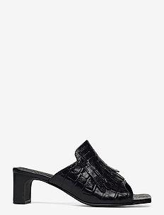 Alabasta Sandal - högklackade sandaler - blk croco optic