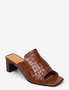 Alabasta Sandal - højhælede sandaler - cognac cro.optics