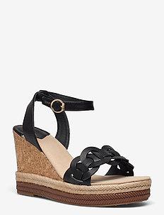 Ivalice Wedge Sandal - højhælede espadrillos - black