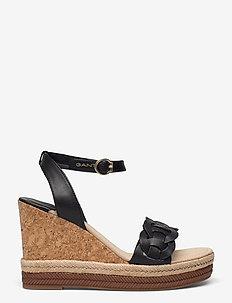 Ivalice Wedge Sandal - espadrilles mit absatz - black