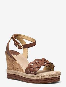 Ivalice Wedge Sandal - espadrilles mit absatz - tan