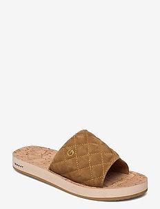 Flatville Sandal - pool-sandalen - fudge caramel