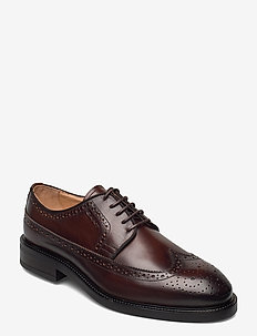 Flairville Low lace - laced shoes - cognac