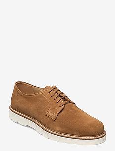 Prepburg Low lace sh - laced shoes - cognac