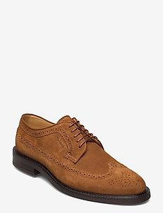 St Akron Low lace sh - laced shoes - cognac