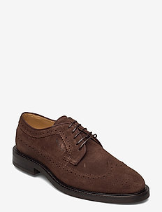 St Akron Low lace sh - laced shoes - dark brown