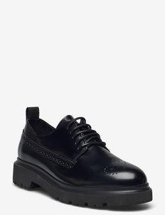 Malinca Low Lace Shoe - snörskor - black