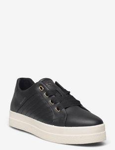 Avona Low lace shoes - lave sneakers - black