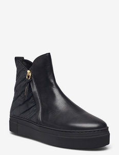 Vanna Mid Zip boot - niski obcas - black